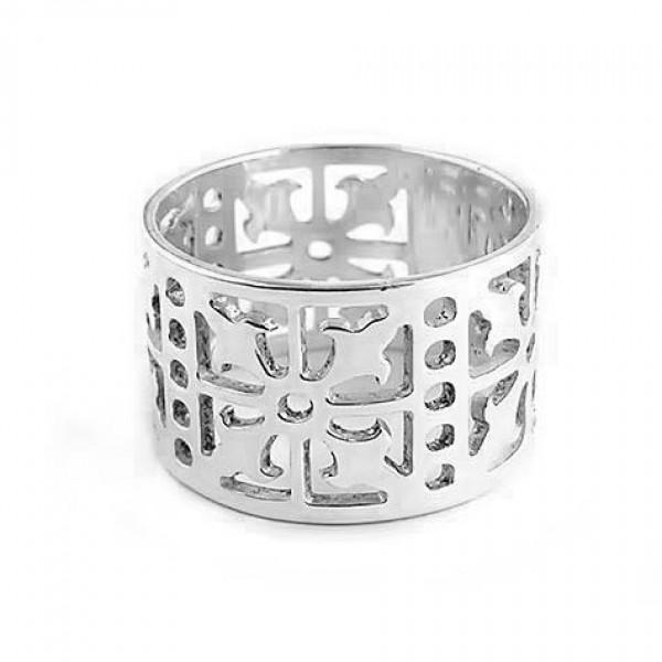 srebrni prsten - sečena ukrasna gravura