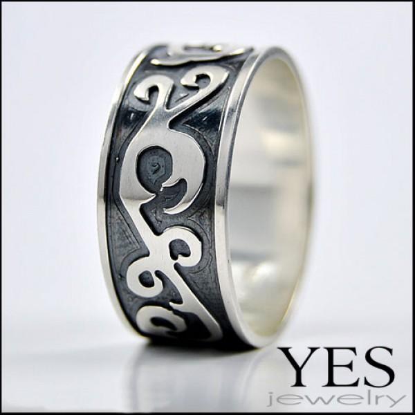 Prsten sa ukrasom - model 1 sa gravurom