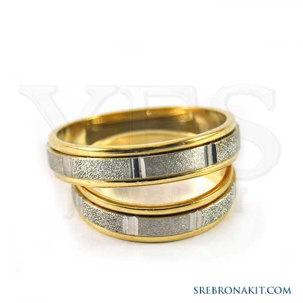 Zlatne burme - težine 4.3 grama - širine 5 mm Model:M114