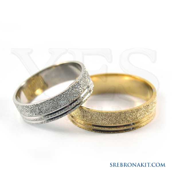 Zlatne burme - težine 3.5 grama - širine 6 mm Model:M256