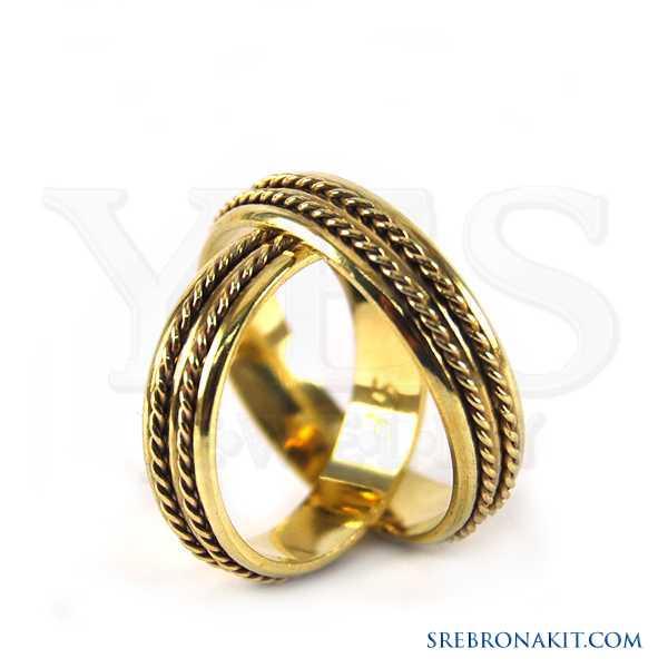 Zlatne burme - težine 4.1 grama - širine 5 mm Model:M85