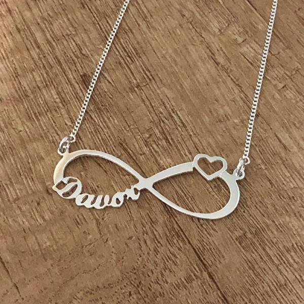 """""""Infinity"""" Ogrlice - """"beskonacnost"""" - Srebrne ogrlice sa simbolom beskonačnosti i sa jednim imenom po Vašoj želji"""