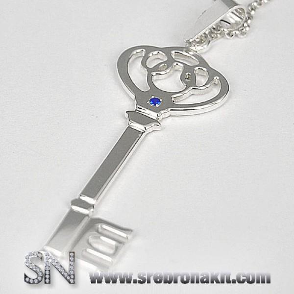 Srebrni Privesci - Srebrni medaljon - Srebrni kljuc - model 1