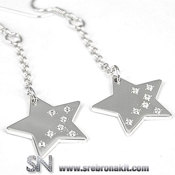 Srebrne mindjuse - Nausnice - zvezde