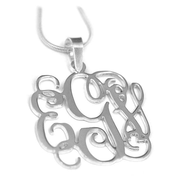 Monogram - srebrni privezak sa 3 slova