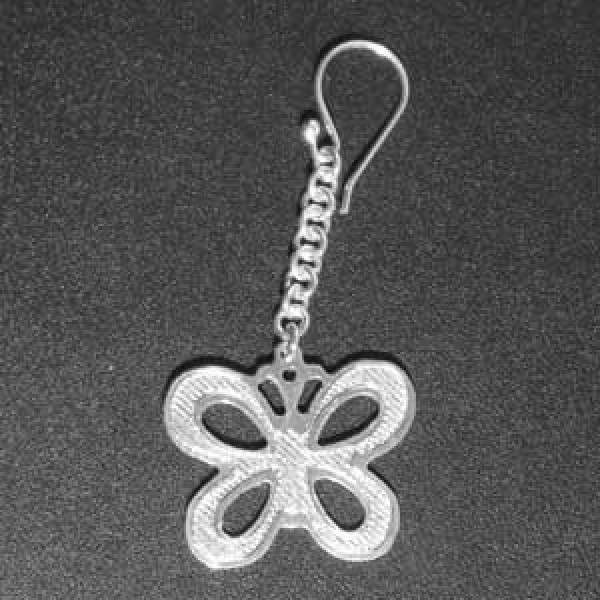 srebrne mindjuše sa leptirićem - 925 srebro - par