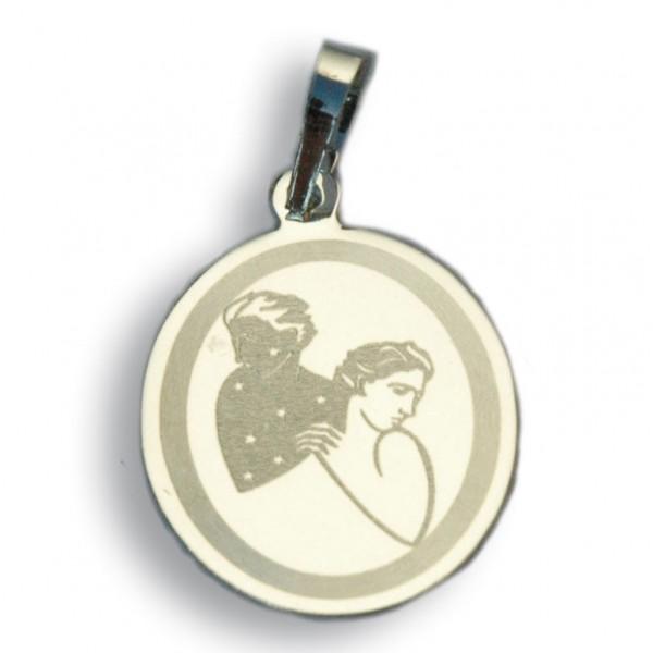 """Horoskopski znaci - znak """"Blizanci"""" - srebrni medaljon"""