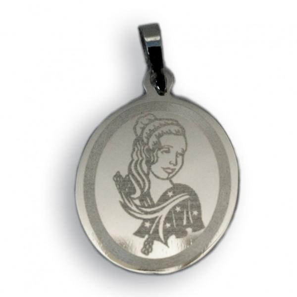 """Horoskopski znaci - znak """"Devica"""" - srebrni medaljon"""