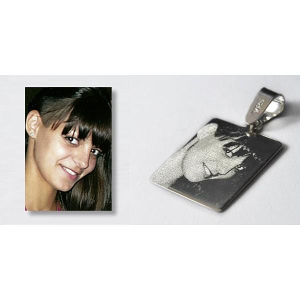 Foto nakit - srebrni medaljon sa graviranom slikom po želji