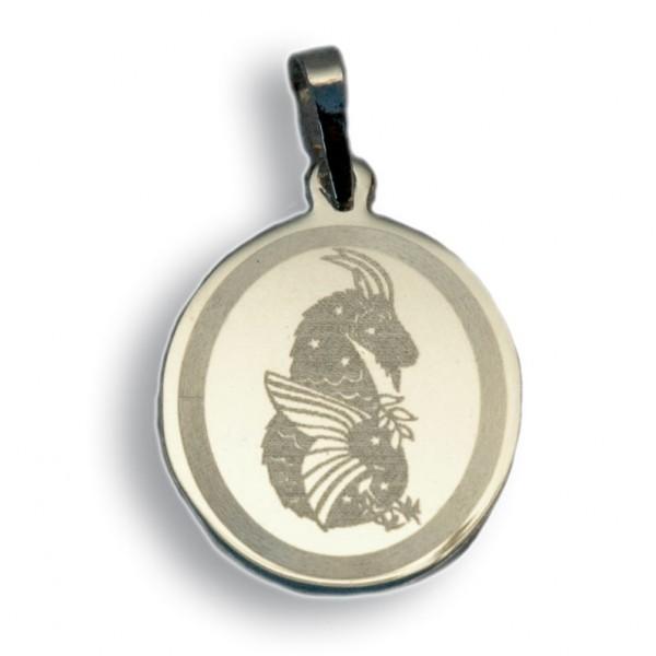 """Horoskopski znaci - znak """"Jarac"""" - srebrni medaljon"""