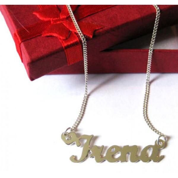 Lančić sa imenom - sa providnim cirkonom u srcu