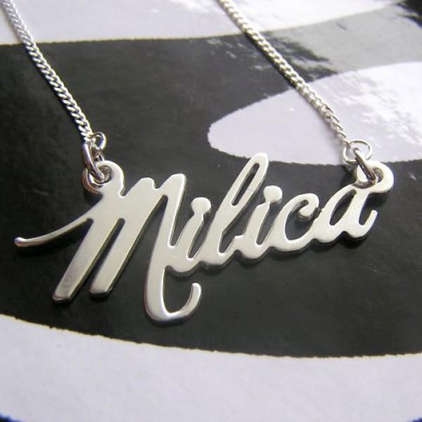 Lancic sa imenom - milka font