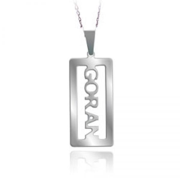 Muški privezak - medaljon sa muškim imenom