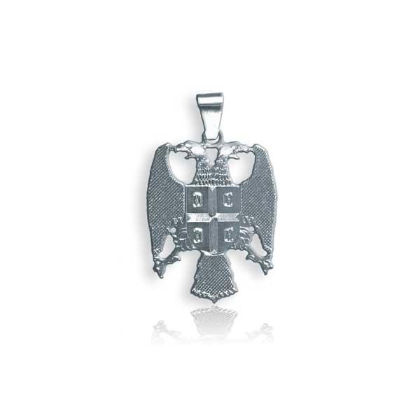 006 mali srebrni grb Srbije - medaljon u 925 srebru