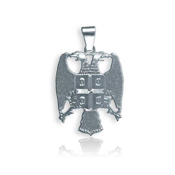 007 srebrni grb Srbije - srednji - medaljon u 925 srebru