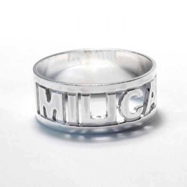 Prsten sa imenom - prstenje sa tekstom po želji