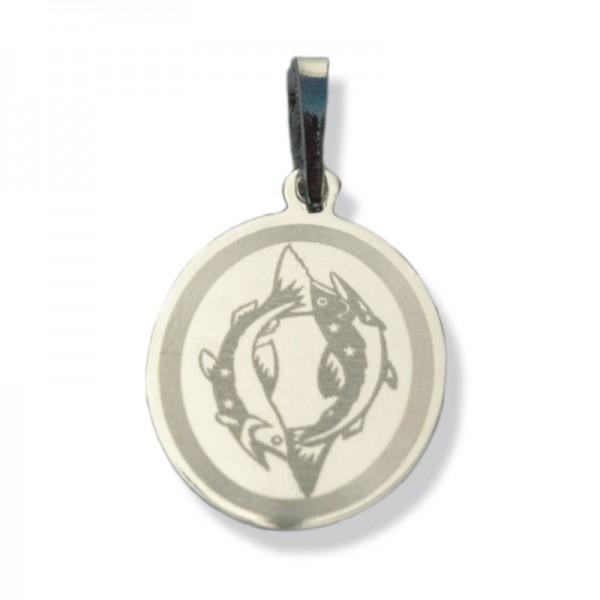 """Horoskopski znaci - znak """"Ribe"""" - srebrni medaljon"""