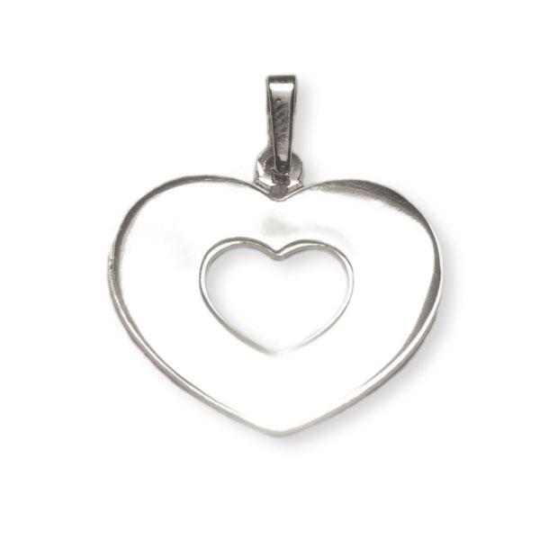 Srebrni medaljon - srce u srcu