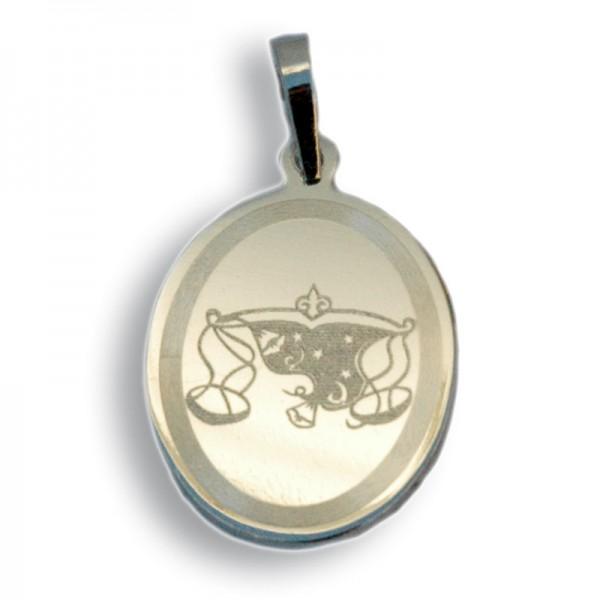 """Horoskopski znaci - znak """"Vaga"""" - srebrni medaljon"""