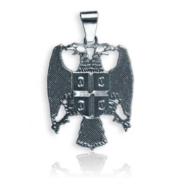 008 Veliki grb Srbije težine 9.6 grama - veliki - medaljon u 925 srebru