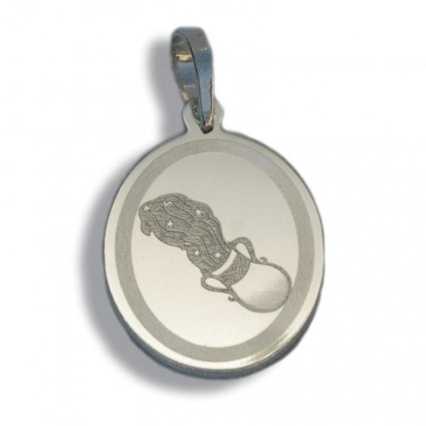 """Horoskopski znaci - znak """"Vodolija"""" - srebrni medaljon"""
