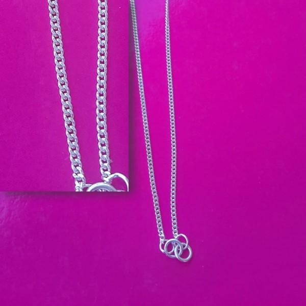 Srebrna ogrlica bez ukrasa