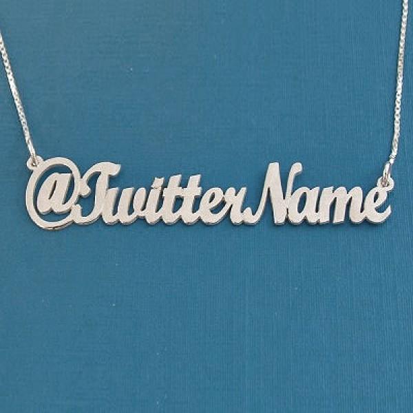 Srebrni lančić sa twitter imenom po želji
